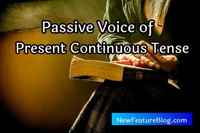 Active and Passive Voice of Present Continuous Tense के बारे में बताऊंगा।  Active ko passive voice … | Present continuous tense, Active and passive  voice, Continuity