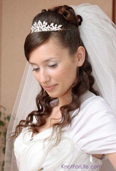 Long Wedding Hairstyles Veils Tiaras Knot