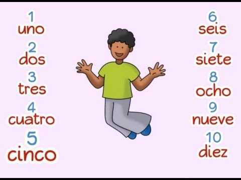 Count to ten in Spanish: ¡Cuenten conmigo!  A fun and interactive video that teaches students to count to ten in Spanish, while clapping and jumping along.  from the Calico Spanish curriculum, Mi guitarri songbook