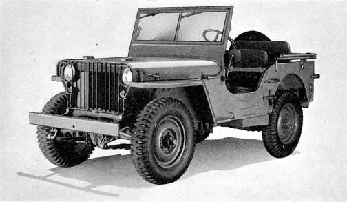 Willys MB with slat grill, reference photo from TM 10-1207 published in 1941 (for grandpa)