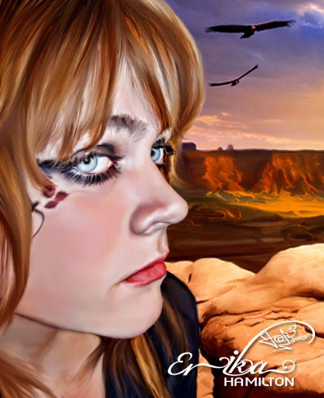 Erika Hamilton (Devianart)  Smudge Painting by Joen@f