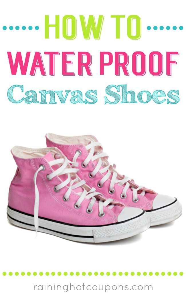 How To Waterproof Canvas Shoes: A great pin to add to your Spring or DIY board! Canvas shoes such as Tom's or Bob's are great for almost anytime of the year or activity. However, they don't always hold up when it comes to fighting against rain or snow. The good news is there is a super easy way to keep your canvas shoes protected and it won't break the bank! It may take a little elbow grease, but the process is well worth it as your shoes will be weatherproof! Click through to learn how...