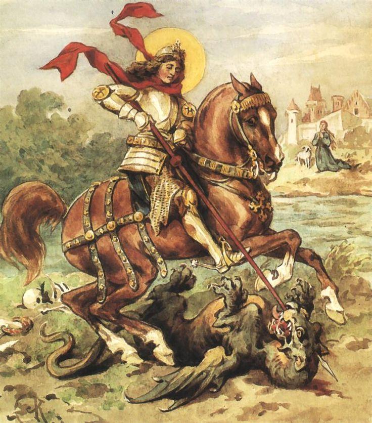 St. George Killing the Dragon - Juliusz Kossak