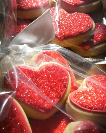 Sparkly Heart Cookies