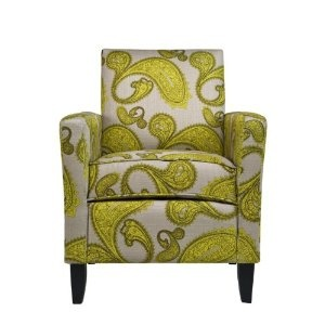 Best Angelo Home Sutton Chair Modern Lemongrass Paisley 400 x 300