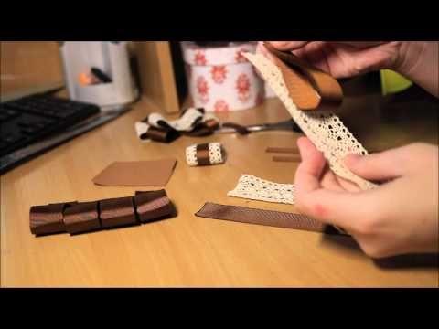 Как сделать красивую брошь бант МК Bow brooch D I Y - YouTube