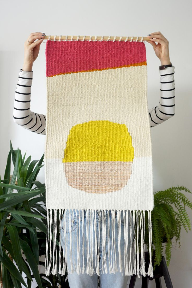 Sun  is an unique wall decoration made of high-quality woolen yarns. They are leftovers from nearby carpets factory. The item was ethically made in Poland with all the precision and attention to details. Please notice that colors in reality may vary slightly due to different screen settings.  Dimen