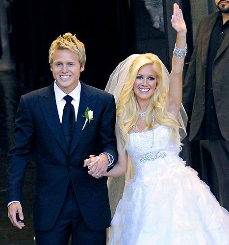 Spencer Pratt and Heidi Montag get married at Westminster Presbyterian Church on April 25, 2009 in Pasadena, California.