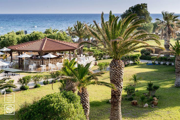 Poseidon - The pool bar. #zorbasvillage #vitahotels #crete #greece #bar