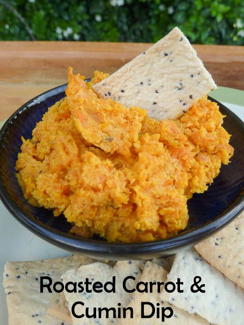 Roasted Carrot & Cumin Dip * Get the recipe on TIFFIN - bite sized food adventures -