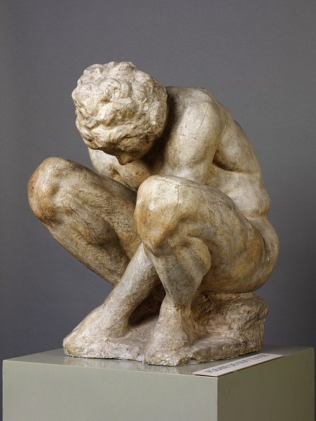 Crouching Boy by Michelangelo // Art Curator & Art Adviser. I am targeting the most exceptional art! Catalog @ http://www.BusaccaGallery.com