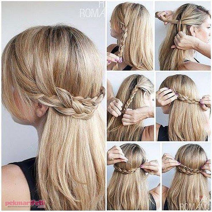 Günlük kullanım için yapımı kolay saç modeli