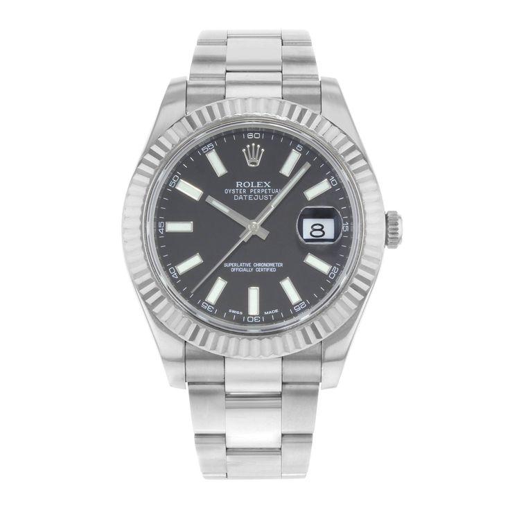 Refurbished Rolex Datejust II 116334 bkio Steel & 18K White Gold Automatic Men's Watch