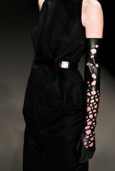 Delicate Leather Gloves at Dawid Tomaszewski AW 2013. I sorta did something along these lines last winter... but uh, probably not this well-made and cool!