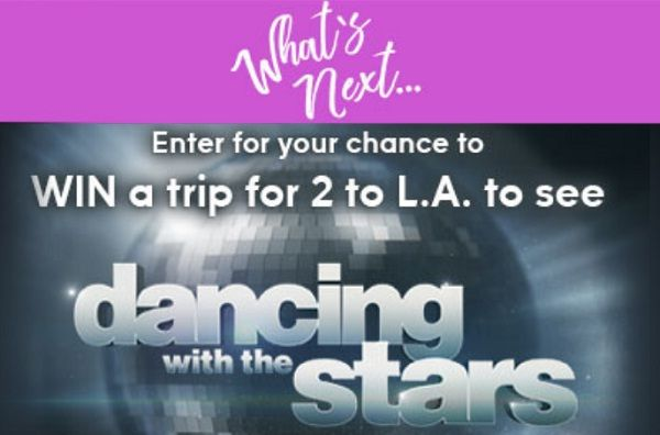 Www Winwhatsnext Com Win A Trip To Los Angeles To Watch Dancing With The Stars Live Wintrip Sweepstakes Dai Dancing With The Stars Win A Trip Sweepstakes
