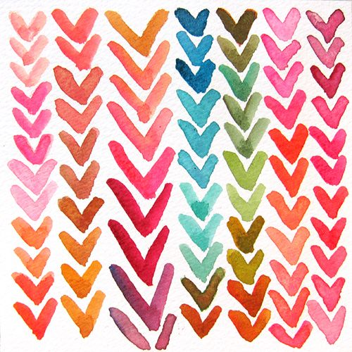 hearts: Colour, Craft, Idea, Pattern, Watercolors, Water Color, Valentine, Diy
