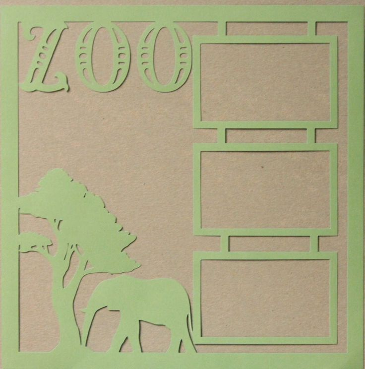 "Die-Cut Cardstock Zoo 11.50"" x 11.50"" Scrapbook Page Overlay is available at Scrapbookfare."