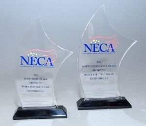 Baker Electric Solar is proud to announce we recently received two National Electrical Contractors Association (NECA) safety awards! #solar