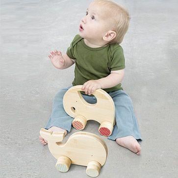 Holzspielzeug Elefant und Wal
