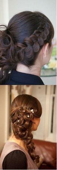 ..Braided Hair, Hair Hair, Bottom Style, Hair Nails Make Up, Braids Ideas, Hair Makeup, Side Braids, Updo, Braids Hair