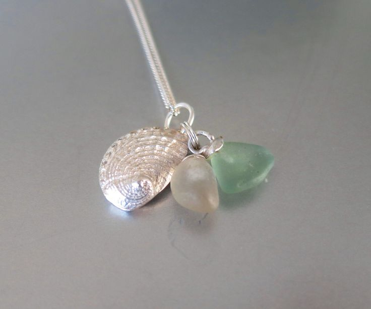 Sterling Baby Abalone Shell Necklace by Artistic925Jewellery on Etsy