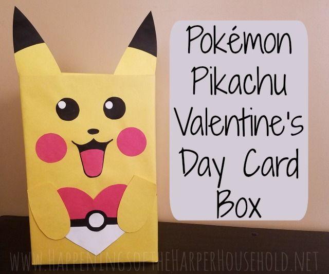 Pikachu Valentine's Day box & free printable cards!