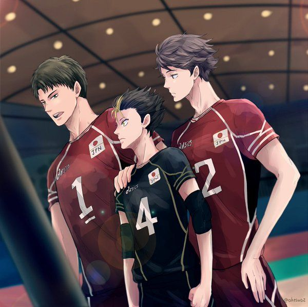 Oikawa and ushijima and my baby noya all make it to the national team!!!!!