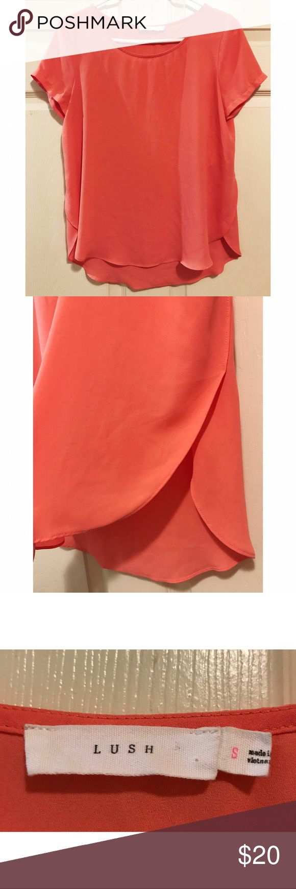 Lush • NWOT Coral Blouse Lush • NWOT Coral Blouse. Cute open side detailing as shown in photo. Lush brand. Absolutely adorable. Size Small. Lush Tops Blouses