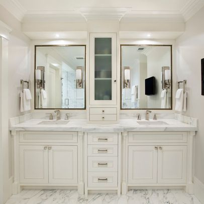 White Master Bathroom Design Ideas, Pictures, Remodel, and Decor - page 10