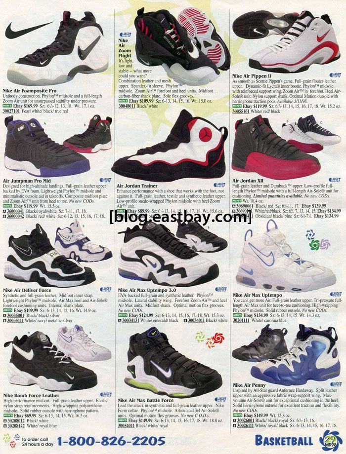 9aad9185721f Eastbay Memory Lane  Air Jordan XII and Nike Basketball 1998. Image result  for nike catalog vintage 1990 s basketball