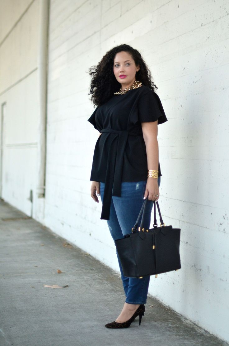 |WEARING| Asos Top (similar here, here &maternity options here), Asos Necklace, Tory Burch Cuff (similar here),Old Navy Maternity Jeans (non-maternit