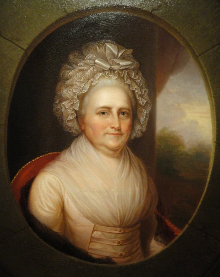 Martha Washington by Rembrandt Peale 1st #President of the United States #FirstLady
