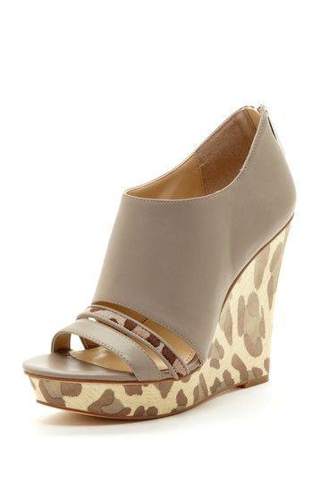 Calvin Klein Danette Leopard Wedge by Shoe Madness on @HauteLook