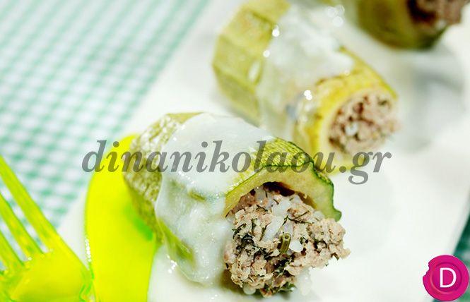 Κολοκυθάκια γεμιστά στην κατσαρόλα | Dina Nikolaou