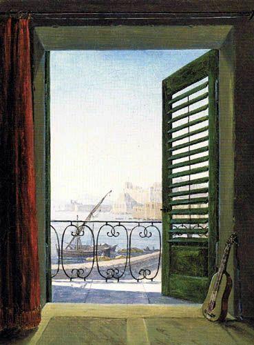 Carl Gustav Carus - Blick auf Neapel vom Balkonzimmer, 1830