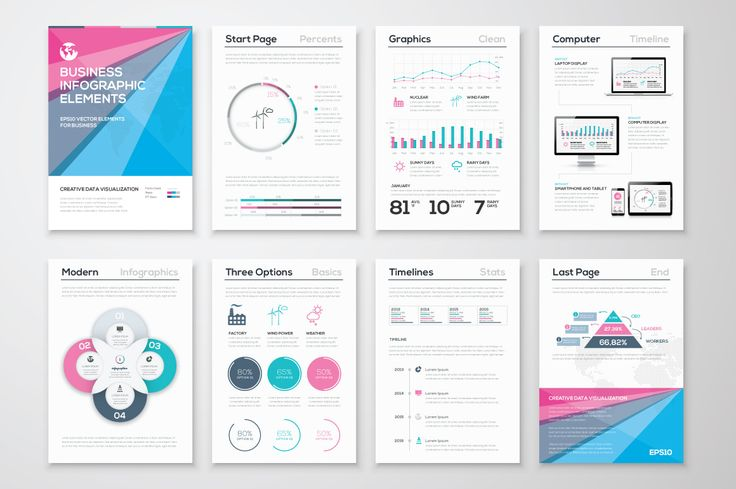 Infographic Brochure Elements 7 by Infographic Template Shop on Creative Market