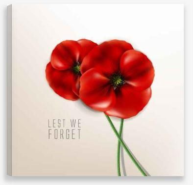 Canvas Wall Art – Lest We Forget