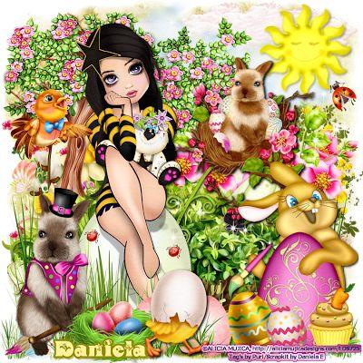 """MI RINCÓN GÓTICO: CT for Daniela E Designs, """" Easter girl """""""