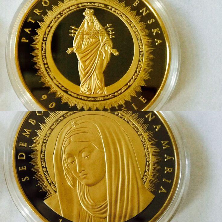Sedembolestná Panna Mária- zušľachtená rýdzim zlatom a vzácnym ruténion