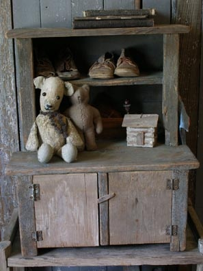 Small primitive doll cupboard by Sweet Liberty Homestead