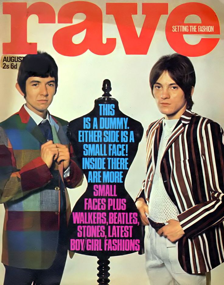 Sixties | Ronnie Lane and Steve Marriott of the Small Faces on the cover of Rave Magazine, 1967