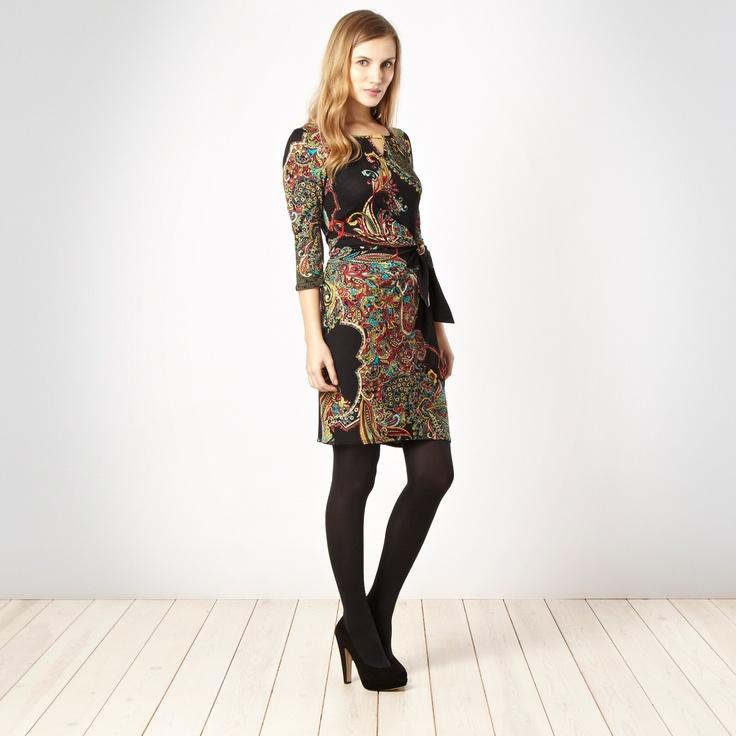 Red herring scarf print dress