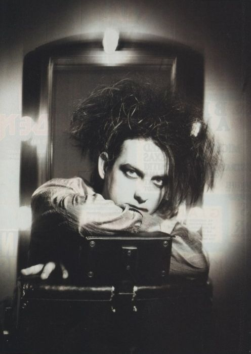 "#TheCure #RobertSmith - ""This should cheer you up for sure, I found your old ID and you're dressed up like the Cure"""