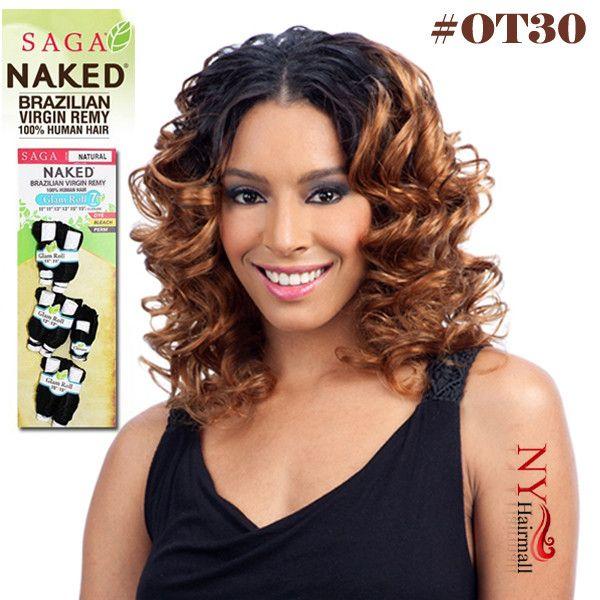 Saga Naked 100% Unprocessed Brazilian Virgin Remy Hair - Glam Roll Long 7PCS