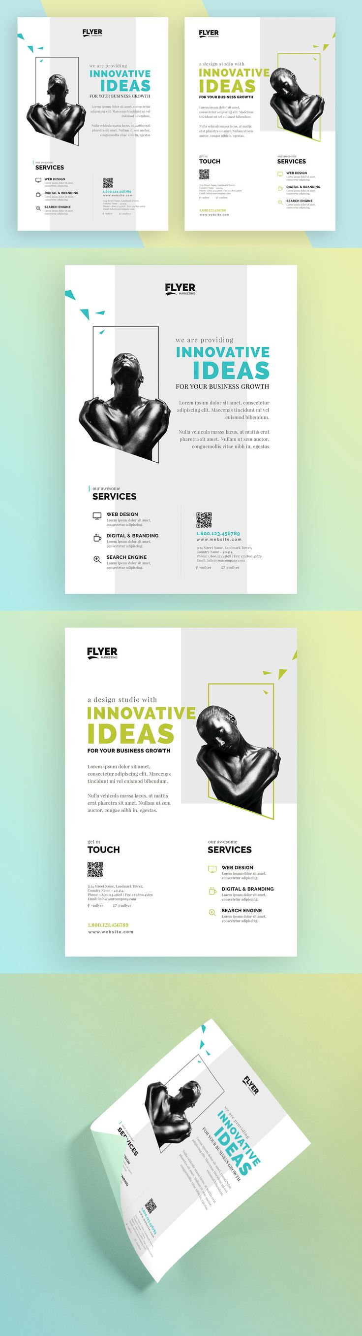 Creative / Corporate Flyer Template AI, PSD