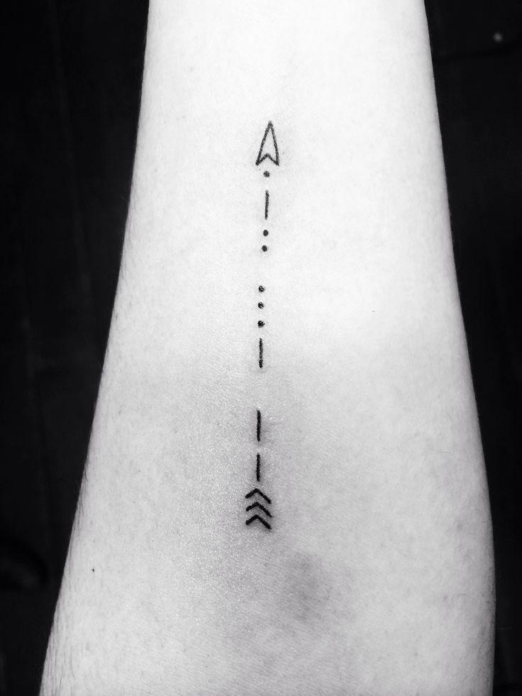 my morse code arrow