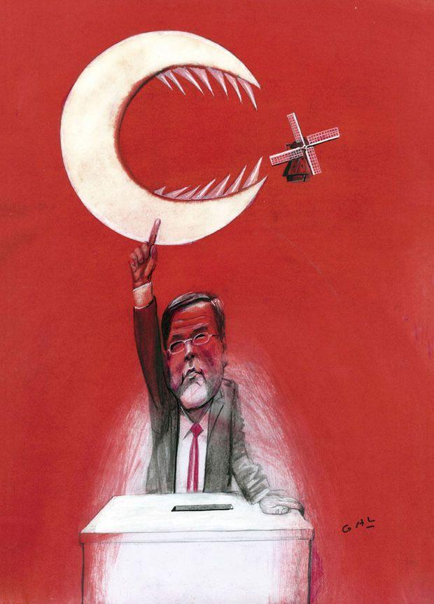 Bekijk de cartoons van Knack-huistekenaar GAL. Problemen tussen Turkije en Nederland.