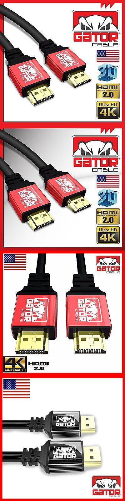 Video Cables and Interconnects: Ultra Hd High Speed Hdmi 2.0 Cable Hdtv Led 3D 2160P 4K X2k Hdr Ps4 Bluray Lot -> BUY IT NOW ONLY: $37.99 on eBay!