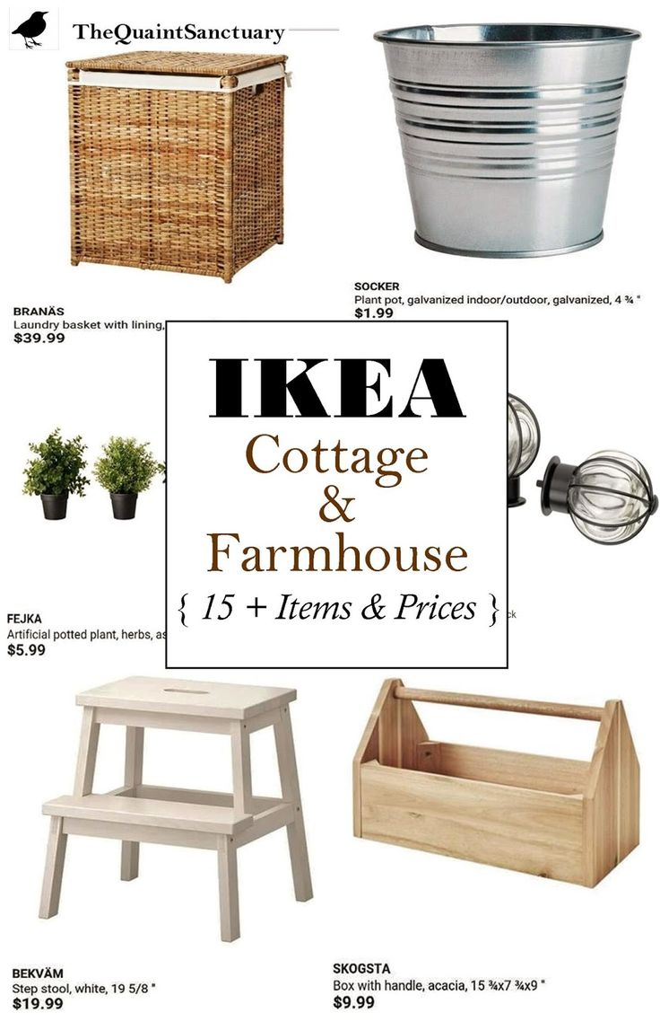 The Quaint Sanctuary: { IKEA Guide to Farmhouse & Cottage Decor on the Cheap! }
