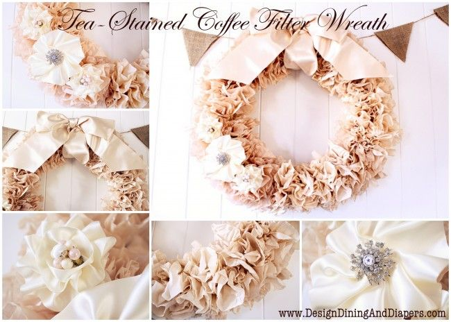 how to - coffee filter wreath - this is SO beautiful and it seems to be easy